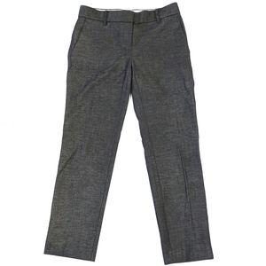 Ann Taylor Devin Fit Gray Trouser Ankle Pants sz 0